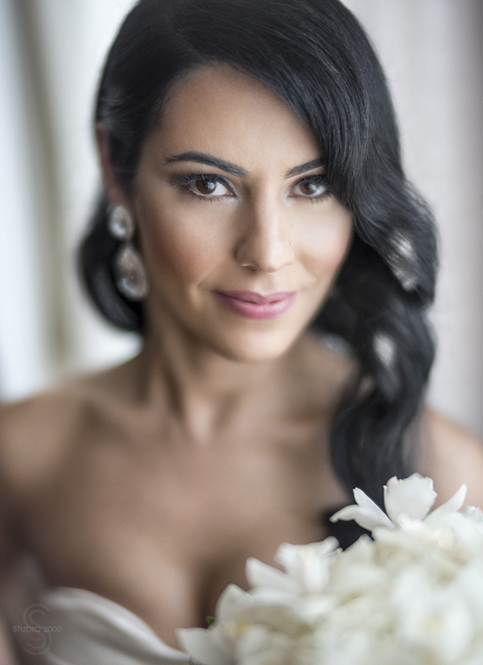Hollywood Glam Wedding Portrait